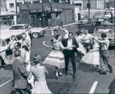 1950 dance party in street