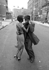 black couple dancing