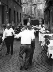 men dancing in rome